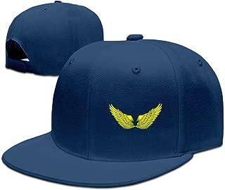 Angel Wings Plain Adjustable Snapback Hats Caps