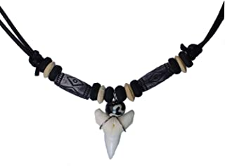 Shark Tooth Tribe Beads Necklace Handmade Hawaiian Beach