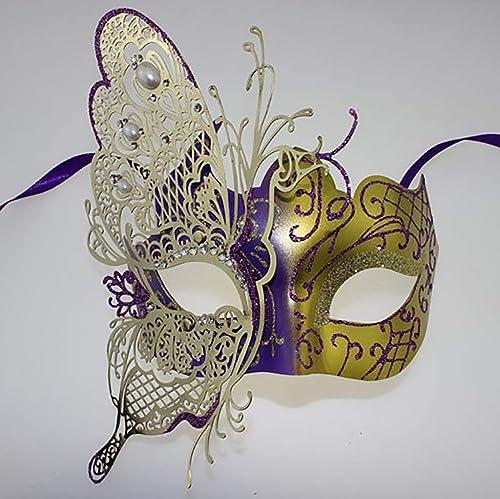 Precio por piso FYPmj FYPmj FYPmj Mascara de Baile Máscara Facial para mujer, máscara de Mascarada, máscara para Mostrar COS, máscara Reutilizable de Hierro Mascara Facial (Color   E, Tamaño   4pcs)  ventas directas de fábrica
