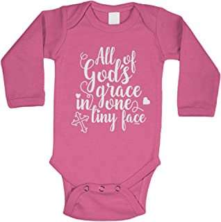All of God's Grace in One Tiny Face Bodysuit