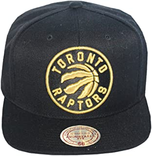 546503bbe10 Mitchell   Ness Men s Toronto Raptors Full Logo Snapback Hat O S Black Gold