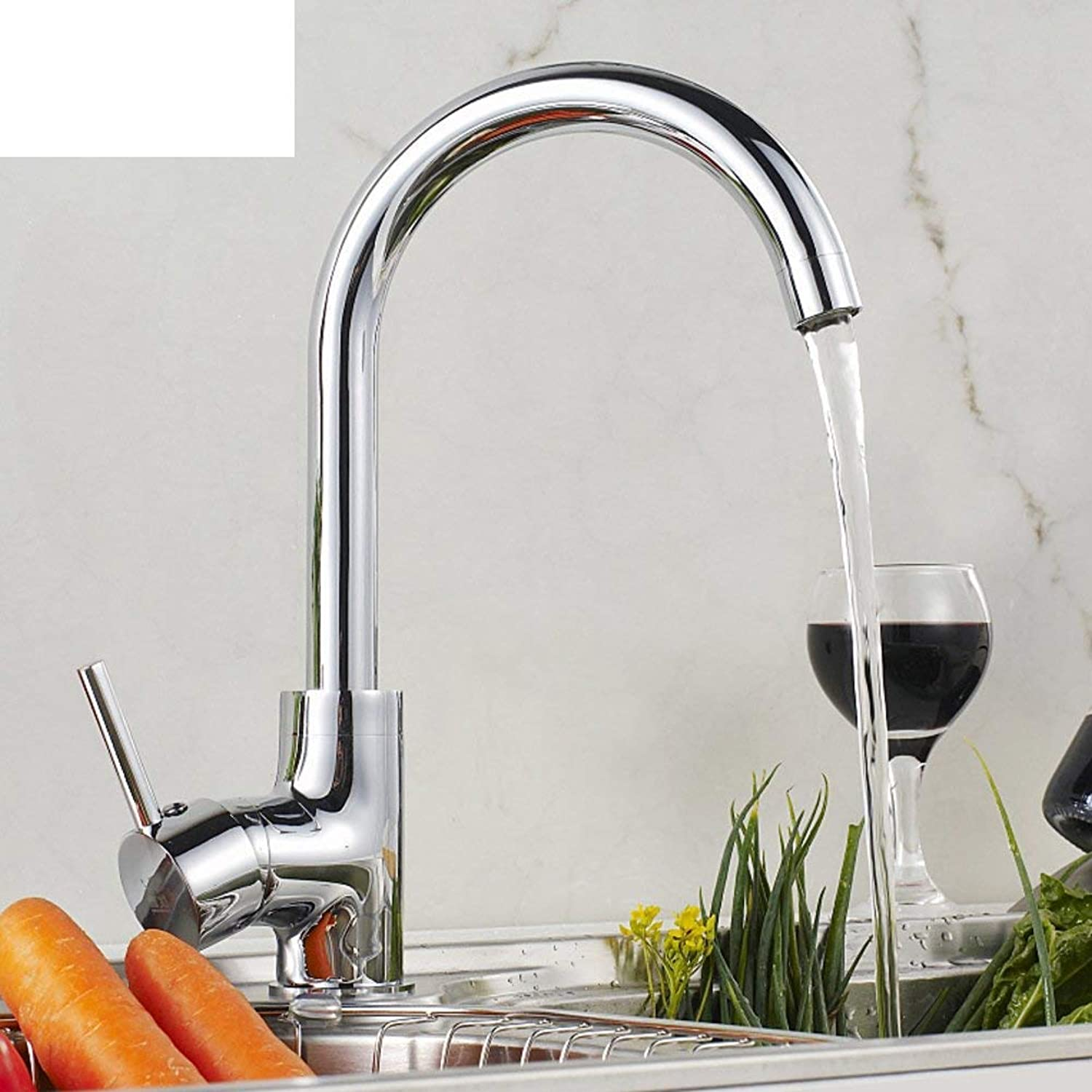 Oudan redatably Single hole kitchen faucet Caipen faucet hot and cold vegetables groove (color   -, Size   -)