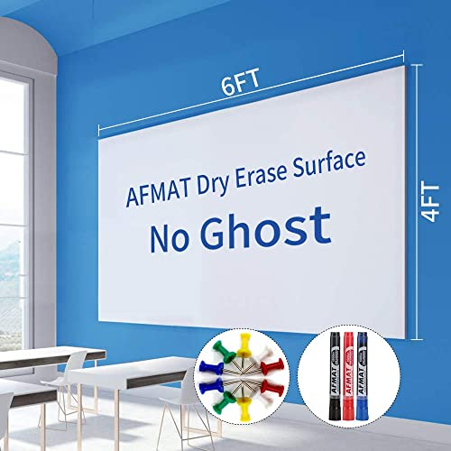 wholesale 6'x4' outlet sale Whiteboard Paper, White Board Adhesive Wallpaper, Large Dry Erase Wall Sticker, Dry Erase Paper Roll for Table/Doors, lowest 3 Markers, Super Sticky, No Ghost outlet sale