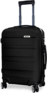 Carry On Luggage 20 Inches - Spinner Carry On Boarding Luggage, Lightweight ABS Hardshell Suitcase, Luggage with TSA Lock (Black, 20 Inch Carry On)