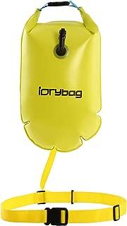 IDRYBAG Safety Swim Buoy Adult Tow Float, Triathletes Open Water Swim Buoy Safe Training, Inflatable Float Swim Buoy Kayaking Swimming Boating 15L