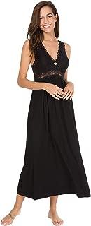 Womens Sleepwear Lace Lingerie Chemises V Neck Nightgown Long Sexy Sleep Dress Sleeveless Lace for Women Elegant