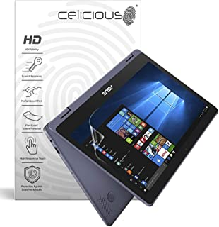 Celicious Vivid Invisible Glossy HD Screen Protector Film Compatible with ASUS VivoBook Flip 12 TP202NA [Pack of 2]