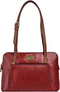 Hidesign leather Women's Handbag NYLE 2 (Red)