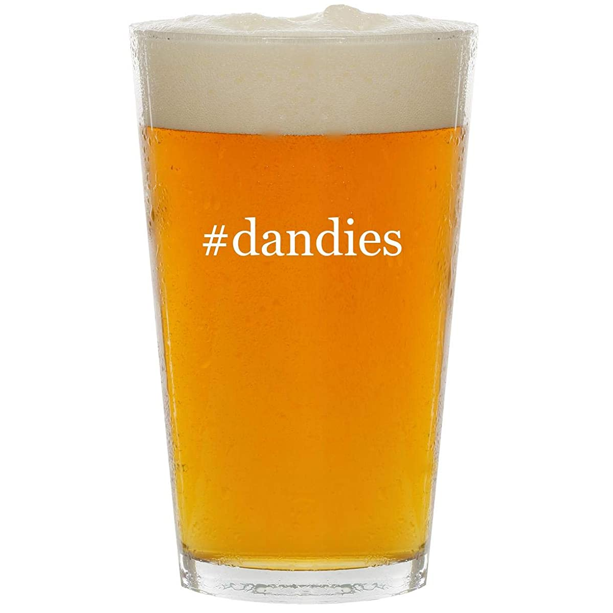 #dandies - Glass Hashtag 16oz Beer Pint