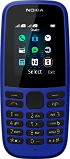 NOKIA 105 Single Sim Feature phone - Blue (Pack of 1)