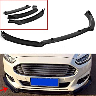 MotorFansClub 3pcs Front Bumper Lip Splitter for Ford Fusion Mondeo 2013-2016 Trim Protection Splitter Spoiler, Black