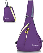 LC Prime Sling Bag Chest Bag Unbalance Backpack Sack Shoulder Messenger Pouch Haversack Rucksack Chest Crossbody Backpack Pack for Travel Outdoor Foldable Nylon Multi-Colored