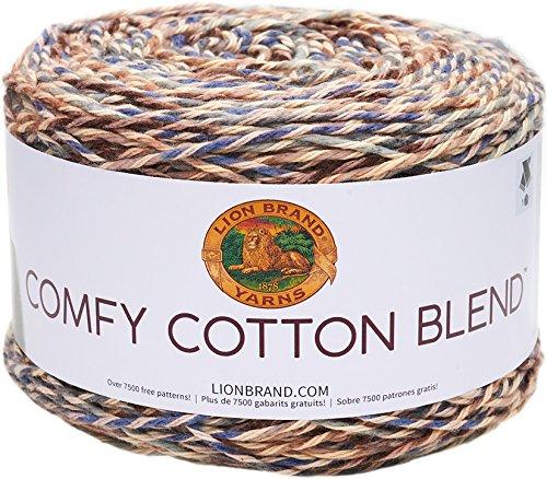 Lion Brand Yarn Comfy Cotton Blend Yarn, Driftwood