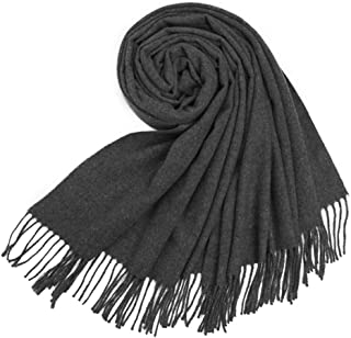 Jeff & Aimy Warm Luxurious Cashmere Feel Winter Scarf for Women Soft Woven Scarves Plaid Pattern