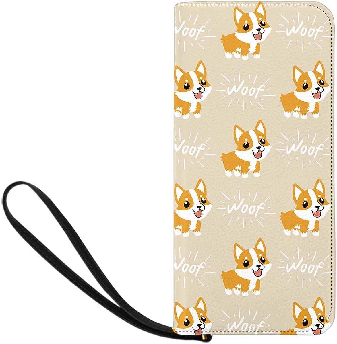 INTERESTPRINT Cute Cartoon Welsh Corgi Wristlet Dog W for Wallet Outlet ☆ Free Luxury goods Shipping