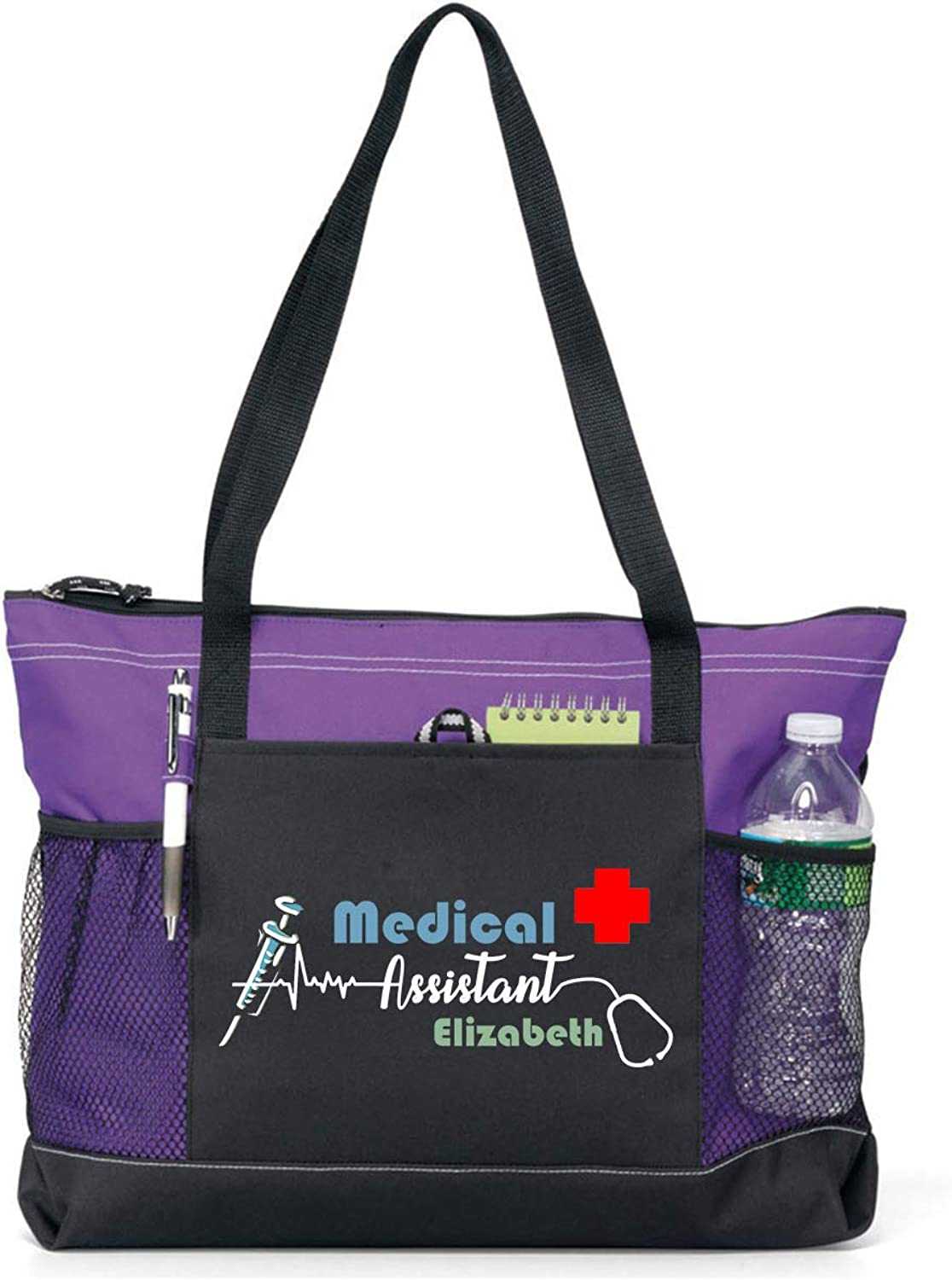 Personalized Medical San Jose Mall Assistant Tote Bag 7 Available Max 83% OFF colors in