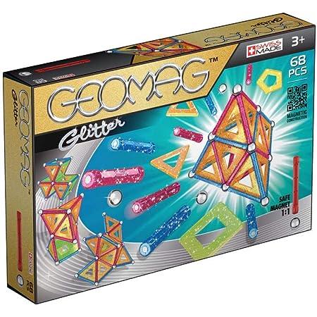 Geomag Classic Glitter Construcciones magnéticas y juegos educativos, 68 piezas (533), Multicolor
