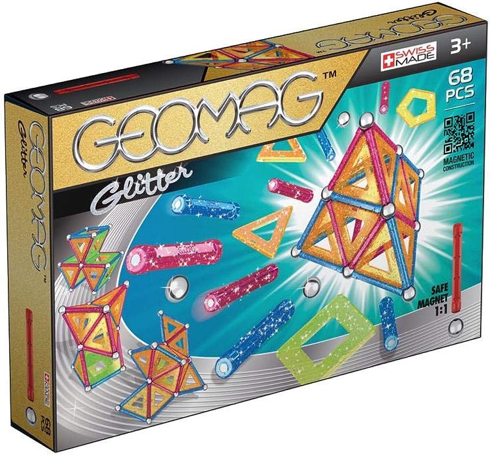 Geomag 533 glitter ,panels, 68 pcs gioco con  barrette e pannelli scintillanti 533GEO