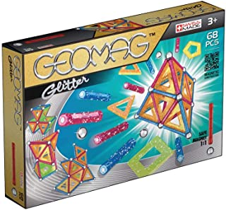 Geomag 533 Glitter Magnetic Construction Set, 68-Pieces