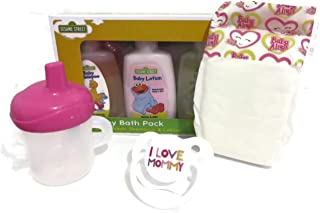 Baby Doll Set Compatible with Baby Alive Super Snacks Snackin Sara with Hair, Older Snackin Lily Deep Wide Mouth - Mommy Pacifier, Baby Alive Sippy Cup + Diaper (Designs Vary) + Lotion - No Doll