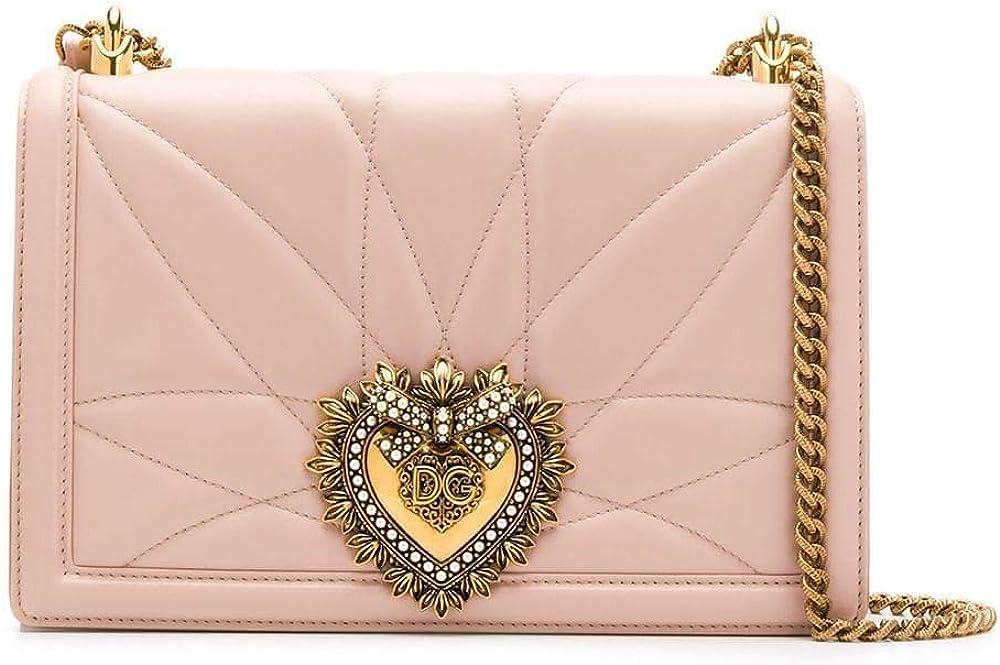 Dolce & gabbana fashion luxury, borsa a tracolla in pelle rosa, per donna BB6651AV96780412