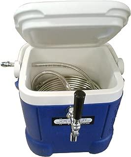 HomeBrewStuff Mini Jockey Box Draft beer dispenser Stainless Steel Coil Chiller