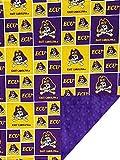 Future Tailgater East Carolina ECU Pirates Licensed Minky Blanket Throw (36' x 28')
