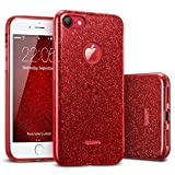 ESRGlitzer Bling Hülle kompatibel mitiPhone7,iPhone8 Hülle [Glänzende Mode] Designer Schutzhülle füriPhone7/8 4.7 Zoll - Rot