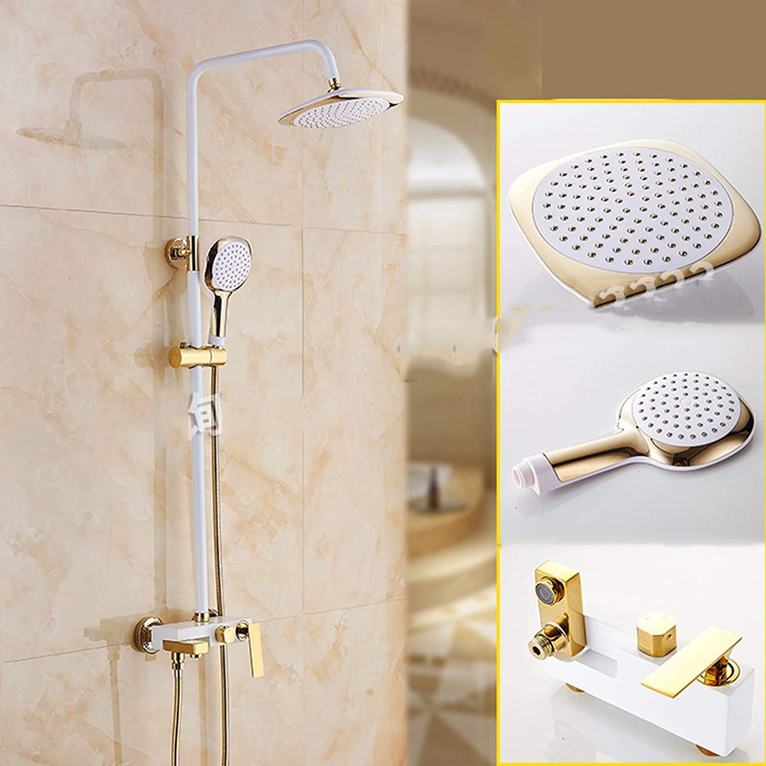 Shower set Shower Shower Shower Shower Set Full Copper Main Shower With Dark Mounted Water Saving Booster,B