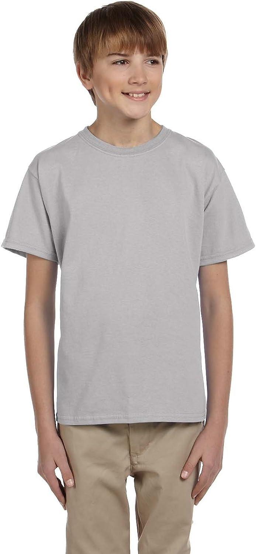 By Hanes Youth 52 Oz, 50/50 EcoSmart T-Shirt - Light Steel - M - (Style # 5370 - Original Label)