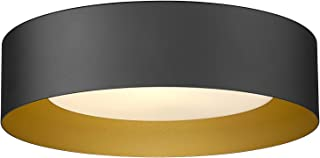 "Autelo Flush Mount Ceiling Light, 14"" Frosted Glass Shade Close to Ceiling Light Fixture in Black Finish E26 Socket for Li..."