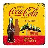 Nostalgic-Art 46140 Coca-Cola - In Bottles Yellow | Retro Metall-Untersetzer | Tassen-Untersetzer |...