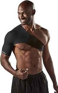 Body Helix Adjustable Shoulder Compression - Shoulder Compression Sleeve – Provides Comfortable Compression to The Shoulder Joint, Muscles, tendons and ligaments. (Black (Right Shoulder), Medium)