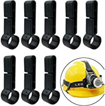 Hardhats Clips, 8 Pieces Helmet Headlamp Clips Black Hardhat Hooks for Various Headlamp and Hard Hat