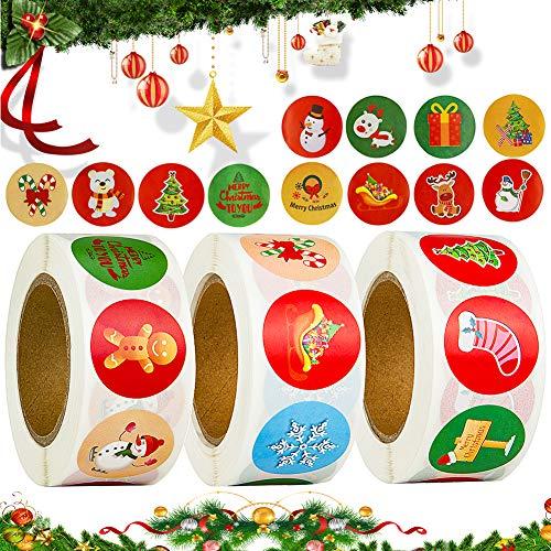 Etiquetas Navidad Adhesivas 1500 Marca BESTYY