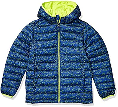Amazon Essentials Boys Lightweight Water-Resistant Packable Hooded Puffer Jacket