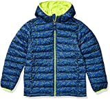 Amazon Essentials Hooded Puffer Jacket Chaqueta, Navy Line Shark, 12 US X-Large