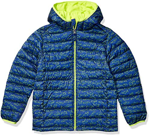 Amazon Essentials Lightweight Water-Resistant Packable Hooded Puffer Jacket Giacca, Squali della Marina, XL