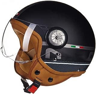 B110 Retro Motorcycle Helmet Scooter-Helmet Cruiser Mofa Chopper Bobber Pilot Vespa-Helmet Vintage Biker Jet-Helmet Moto-Helmet Include Cloth Bag DOT ECE Certification