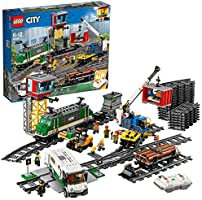 LEGO City Cargo Train 60198 Remote Control Train Building Set with Tracks for Kids, Top Present and Christmas Gift for...