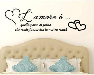 Adesivi murali frasi in italiano Amore Adesivo Murale Wall Stickers Frase Citazione Adesivi Murali Decorazione interni amo...