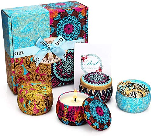 Mirror Scented Candles Gift Set, 4Pk Natural Soy $13.59 (59% OFF)
