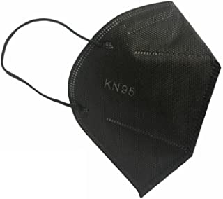 Máscaras KN95 Preta Adultas com ANVISA Fabricada no BRASIL - Embaladas de 10 em 10 - Kit de 10, 20, 30, 40, 50, 100 Unidad...