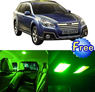 LED Interior Lights 8pcs Green Package Kit Accessories Replacement for 2000-2004 Subaru Outback