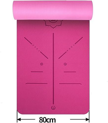 HCJYJD Tapis de Yoga, Widen épaissir allongent TPE Insipide Tapis de Yoga débutant antidérapant Tapis de Fitness (Couleur    2, Taille   8mm)