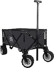 BXL Heavy Duty Collapsible Folding Garden Cart Utility Wagon for Shopping Outdoors (Black)