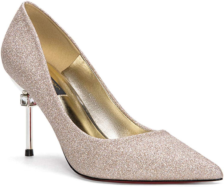 YongBe Damen High Heels Stiletto Spitzschuh Pumps Damen Crystal Court Schuhe Flachen Mund Arbeitsgruppe