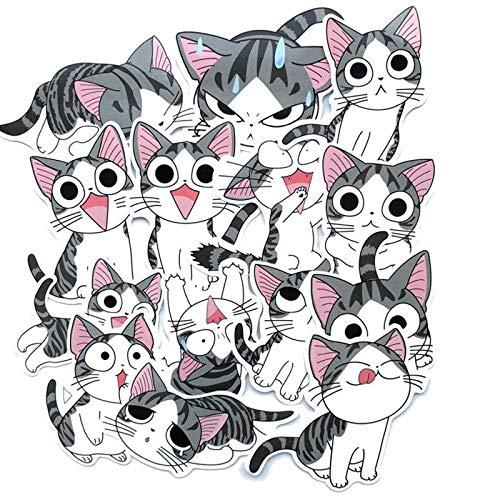 14Pcs Cute Cat Stationery Stickers Kawaii Cartoon Decor Sticker List Diary Sticker For Kids DIY Scrapbooking Diary Albums