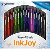 Paper Mate InkJoy 300RT Retractable Ballpoint Pen, Medium Point, Assorted Colors, 25 Count