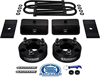 Supreme Suspensions - 2 Inch Front + 2 Inch Rear Lift Kit for 2005-2011 Dodge Dakota [2WD] Strut Spacers + Lift Blocks + Round Bend U-Bolts + Pinion Alignment Shims